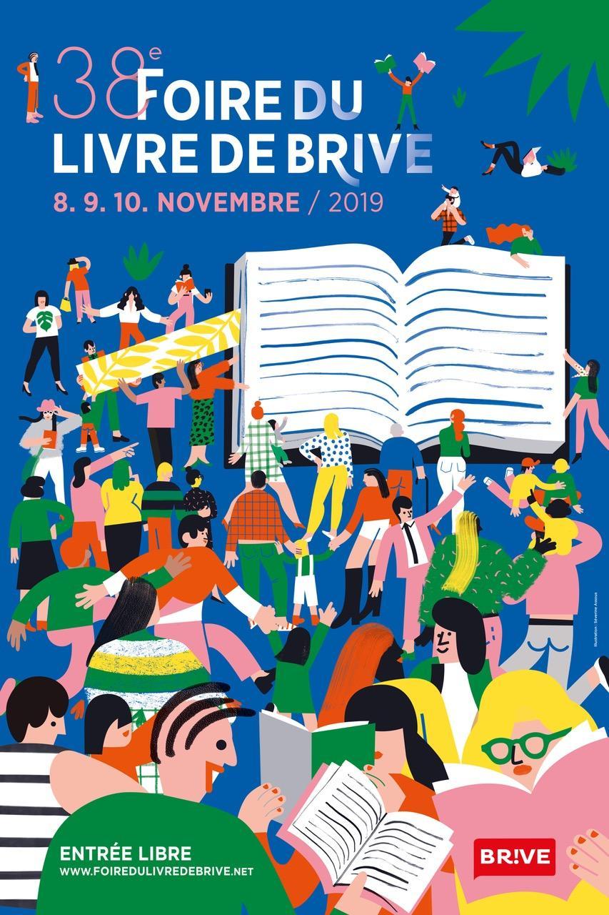 Affiche Foire du livre Brive 2019