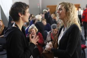Coup de cœur. La présidente Delphine de Vigan discute avec Sophie Divry au forum Claude Duneton.